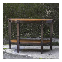 Sigmon 47 inch Hand Rubbed Black Console Table Home Decor