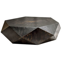 Volker 50 inch Mango Veneer with Worn Black and Honey Coffee Table Home Decor