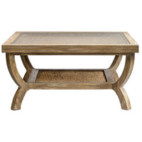 Cameron 36 inch Weathered Oak Coffee Table Home Decor