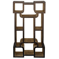 Chosovi 52 X 28 inch Aged Black and Antique Silver Etagere