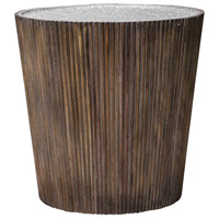 Amra 22 X 22 inch Gray Glaze and Honey with Aluminum Accent Table
