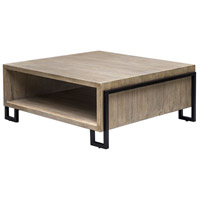 Uttermost 25876 Kailor 44 X 18 inch Oatmeal Glaze and Antiqued Bronze Coffee Table