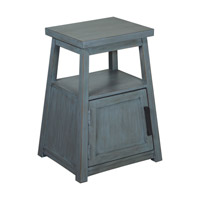 Cora 18 inch Blue Wash End Table Home Decor, Matthew Williams