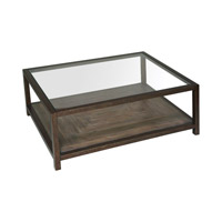 Carter 48 inch Iron Frame Coffee Table Home Decor
