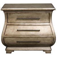Chiana Antiqued Champagne Silver Leaf Accent Chest