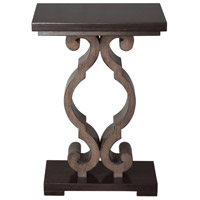 Parina 18 inch Warm Ebony Stain and Taupe Gray Accent Table Home Decor