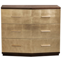 Verdura Hand Applied Gold Leaf with Warm Walnut Accent Chest
