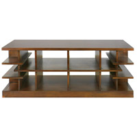 Simeto 54 inch Walnut Veneer Coffee Table Home Decor