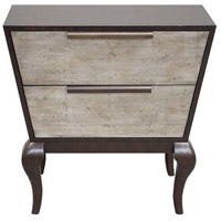 Melito Ebonized Walnut Stain and Silver Leaf Accent Chest