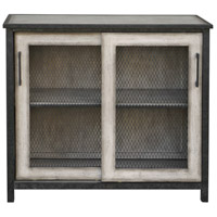 Dylan Aged Iron and Aged Driftwood Gray Accent Cabinet