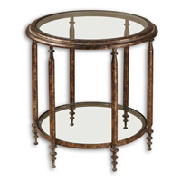 Uttermost Leilani Accent Table in Antique Gold Mottled 26011 photo thumbnail