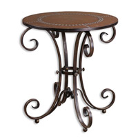 Uttermost Lyra Accent Table in Ancient Bronze 26111