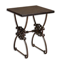 Uttermost Anissa Accent Table in Forged Metal In Ancient Bronze Patina 26112 photo thumbnail