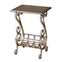 Uttermost Lilah Magazine Table in Lightly Burnished Silverleaf 26117 photo thumbnail