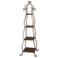 Lilah Lightly Burnished Silverleaf Etagere