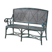 Uttermost Generosa Bench in Turquoise Crackle 26126