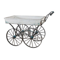 Uttermost Generosa Flower Cart in Antiqued White 26128