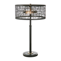 Alita Black 27 inch 60 watt Rustic Black Lamp Portable Light