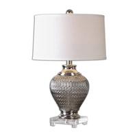 Uttermost Osgar 1 Light Table Lamp in Metallic Silver 26138-1