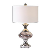 Uttermost Carolus 1 Light Table Lamp in Chocolate Brown Swirl 26139-1