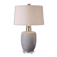 Uttermost Ovidius 1 Light Table Lamp in Gray Glaze 26147
