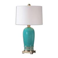 Uttermost Albertus 1 Light Table Lamp in Crackle Blue 26149