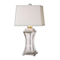 Fulco 29 inch 150 watt Polished Nickel Table Lamp Portable Light