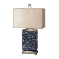 Uttermost Pratola 1 Light Table Lamp in Charcoal Blue 26161-1
