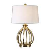 Decimus 28 inch 150 watt Brass Table Lamp Portable Light