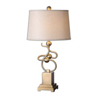 Uttermost Apollonia 1 Light Table Lamp in Modern Brass 26168