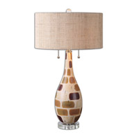 Uttermost Godric 2 Light Table Lamp in Patchwork 26172-1