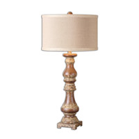 Montoro 34 inch 150 watt Dark Pecan Table Lamp Portable Light
