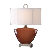 Uttermost Ceadda 1 Light Table Lamp in Rust Red 26178-1