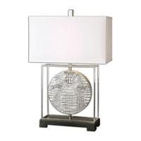 Uttermost Taratoare 1 Light Table Lamp in Metallic Silver 26181-1