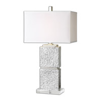Eumelia 31 inch 150 watt Metallic Silver Table Lamp Portable Light