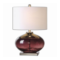 Uttermost Tyrian 1 Light Table Lamp in Brushed Nickel 26190-1