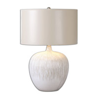 Uttermost Georgios 1 Light Table Lamp in Aged Ivory Glaze 26194-1