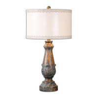 Uttermost Valdarno 1 Light Table Lamp in Aged Pecan 26195-1