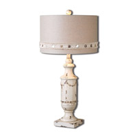 Uttermost Lacedonia 1 Light Table Lamp in Aged Ivory 26198-1