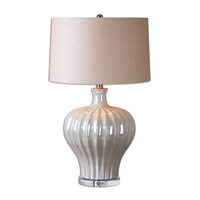 Uttermost Capolona 1 Light Table Lamp in Pearl Glaze 26201