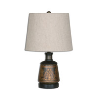 Mela 17 inch 100 watt Hand Painted Table Lamp Portable Light