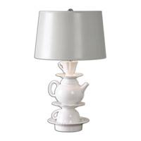 Uttermost Tea Time 1 Light Table Lamp in White Glaze 26234