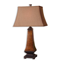 Uttermost Caldaro Table Lamp in Rustic Mottled Brown 26254