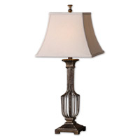 Uttermost 26262 Anacapri 31 inch 100 watt Heavily Antiqued Gold Leaf Table Lamp Portable Light photo thumbnail