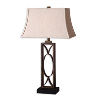 Manicopa 32 inch 100 watt Mottled Dark Bronze Table Lamp Portable Light