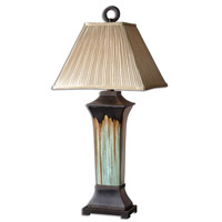 Olinda 37 inch 150 watt Light Green And Metallic Brown Porcelain Body Table Lamp Portable Light