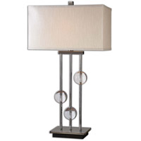 Uttermost Rodeshia Table Lamp in Black Chrome 26280-1