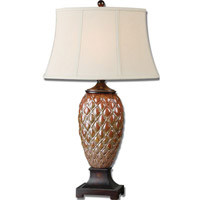Pianello 33 inch 100 watt Rust Brown Table Lamp Portable Light