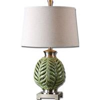 Flowing Fern 27 inch 150 watt Green Table Lamp Portable Light