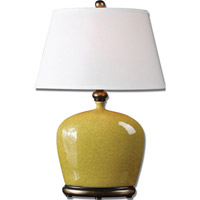 Uttermost Geraldine Burnt Yellow Table Lamp in Burnt Yellow 26286